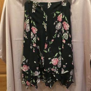 Chaps layered skirt